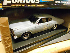 CHEVROLET CHEVY CHEVELLE ss 1970 presque & furious gris t v8 muscle car ERTL 1:18