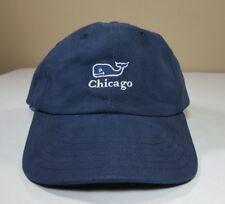 Vineyard Vines Hat Strapback Chicago Whale Navy Blue Dad Cap Adjustable