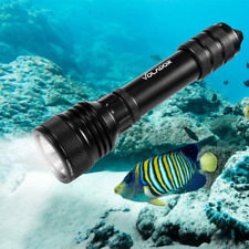 Dive Torch, Volador 2000 Lumens LED Scuba Diving Flashlight, Rechargeable Flash