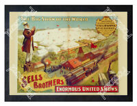 Historic Sells Brothers Circus 1890s Advertising Postcard
