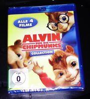 Alvin Und Die Chipmunks Collection 1-4 blu ray Expédition Rapide Neuf & Ovp