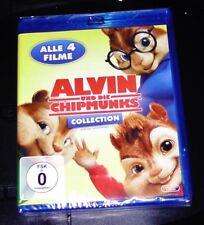 ALVIN UND DIE CHIPMUNKS COLLECTION 1-4 BLU RAY SCHNELLER VERSAND NEU & OVP