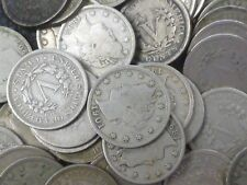 More details for usa nickels bulk lot of 20 circulated liberty head 5 cent coins issued 1883-1912