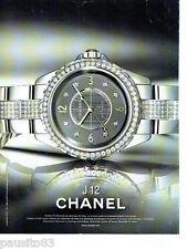 PUBLICITE ADVERTISING 086  2012  Chanel  montre J 12 chromatic