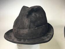 Jill Corbett  stingy brim fedora hat brown suede Handmade S/M/L/XL/XXL/XXXL