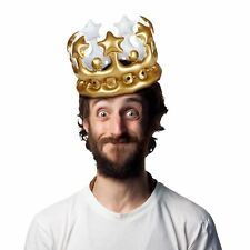 Inflatable Crown King for the Day Party Birthday Outfit Costume Stag Do Gift