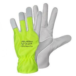 Arbeitshandschuhe Lederhandschuhe Montage Ziegenleder Baumwolle Leder Handschuhe