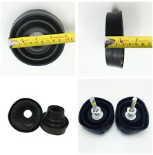 2x Universal Headlight Seal Dust Cap Cover With Hole Rubber Car Light Protector