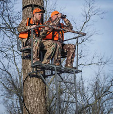 Ladder Tree Deer Construction Stand 15' Two- Man 2 Seat Hunting Stand No Taxes!!
