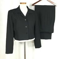 Item Womens Solid Black Polyester Pant Suit Sz 12