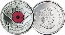 Canada 2004 Quarter Cent Commemorative POPPY image (WWI) - SOLD OUT - UNC