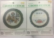 Vintage Christmas Counted Cross Stitch Kits 5inch Hoops