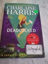 SIGNED Charlaine Harris Deadlocked A Sookie Stackhouse Novel Book HC DJ 1st ed.