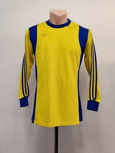 Football shirt soccer Adidas West Germany Erima Retro Vintage Yellow 70's 5/6 M