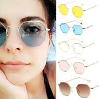 Women Fashion Men Hexagon Square Sunglasses Mirror new Sunglasses Clear Glasses