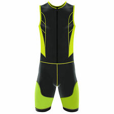 Mens Triathlon Suit Padded Running Swimming Yoga Cycling Compression Tri Suit