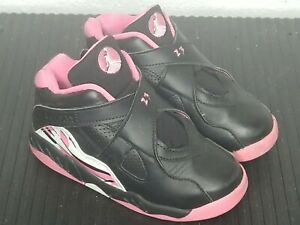 Nike Air Jordan VIII 8 Retro Pinksicle Black Pink Girls Infant Toddler Size 10C