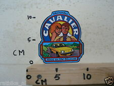 STICKER,DECAL VAUXHALL CAVALIER MADE BY GM BELGIUM CAR AUTO