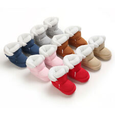 Fashion Winter Snow Warm Booties Infant Baby Boy Girl Faux Fur Boots 3 6 9 12 18