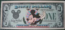 Genuine Mickey Mouse 1989 Disney Dollar - $1 Bill - Mint Condition A00312120A