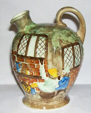 Radford Art Pottery - Handpainted Wine Flagon / Jug - Village Pub Scene.