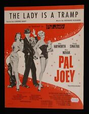PAL JOEY 1957 Original sheet music Rita Hayworth Frank Sinatra Kim Novak
