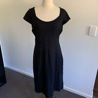 Ladies DIANA FERRARI SIZE 16 Pencil Dress Cap Sleeve Jersey Business Corporate