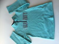 Old Navy 1/3 zip fleece hoodie girls XL 14 blue Cambodia Excellent Used