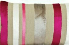 Striped Velvet Cushion Cover Designers Guild Fabric Trasimeno Berry Rectangle