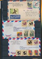 XC75931 Ecuador Cambodia airmail butterflies covers used