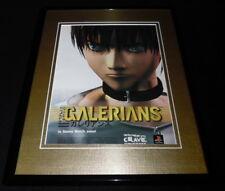 Galerians 2000 Playstation Framed 11x14 ORIGINAL Advertisement