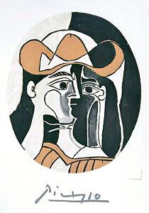 Pablo Picasso FEMME au CHAPEAU Lithograph Abstract Woman Portrait, Cowboy Hat