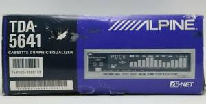 ALPINE TDA-5641 Cassette Graphic Equalizer Spectrum Analyzer AI-NET Unused