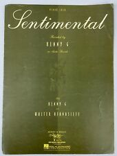 Sentimental 1992 Piano Recital Solo Sheet Music Kenny G Walter Afanasieff