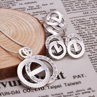 Stunning 925 Sterling Silver Filled Antique Style Necklace / Earrings / Ring Set