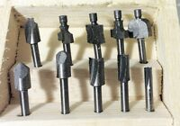 10pc H.S.S Mini Router Bits Set For Tools Wood Working