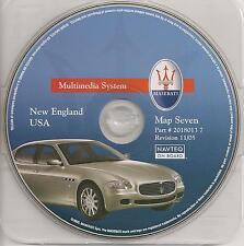2004-2009 Maserati Quattroporte Navigation CD #7 ME VT NH MA CT RI Partial NJ NY