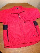 Mens Nike Running Track Cycling Marathon Windbreaker Jacket Red Medium