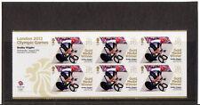 GREAT BRITAIN LONDON 2012 BRADLEY WIGGINS CYCLING MINISHEET UM,MNH OLYMPICS