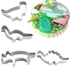 4Pcs/Set Stainless Steel Dinosaur Cookie Fondant Cake Kitchen Mould Mold Cutter
