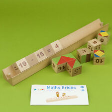 Maths Bricks • Mathematical Educational Aid • Ecological Wooden PILCH Toy