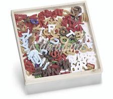 250 DECORAZIONI IN FELTRO a forma di lettere dell'alfabeto ORNAMENTI SCRAPBOO...