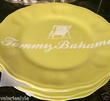 TOMMY BAHAMA YELLOW SALAD PLATE 9 INCH BEACH CHAIR RELAX MELAMINE NAUTICAL NWT