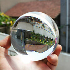 80mm Clear Round Glass Artificial Crystal Healing Ball Sphere Decoration P8