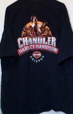 Harley Davidson Motorcycle T Shirt Chandler Arizona Hanes Beefy Graphic Tee 2XL