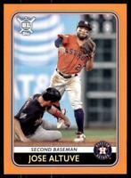 2020 Big League Base Orange #220 Jose Altuve - Houston Astros