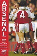 Football Programme>ARSENAL v OLDHAM ATHLETIC Mar 1992
