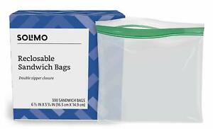 Brand - Solimo Sandwich Storage Bags 300 Count