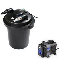 3500 Gal Pressure Pond Filter w/ 13W UV Sterilizer Koi Fish+ 2100 GPH Water Pump