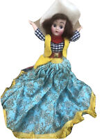 Vintage  Doll Sleepy Eyes With Adorable Western Outfit W/ Cowboy Hat
